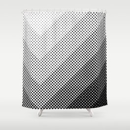 Concentric Squares with dots... a lot of dots. Black Dots, everywhere. It seems a light source. Shower Curtain