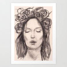 Actress Monica Bellucci - Editorial Art Print