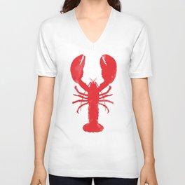 Watercolor Lobster Unisex V-Ausschnitt
