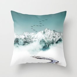 On the right way Throw Pillow