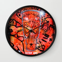 Lucky goes pop n 7 Wall Clock