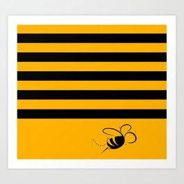 Busy Bumbling Bee Art Print