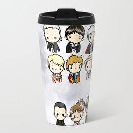 Kawaii Doctors (1 to 12 and War) Doctor Who Travel Mug