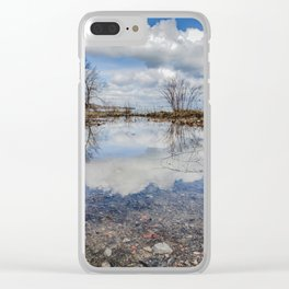 Water and Sky reflections Clear iPhone Case