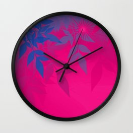 Bisexual Pride Soft Radiance Through Leafy Branches Wall Clock