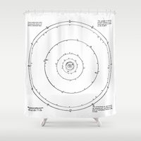solar system Shower Curtains featuring Solar System by Public Demesne