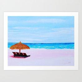 Relaxing seascape Art Print