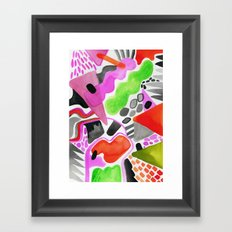 Vibrance Watercolour  Framed Art Print