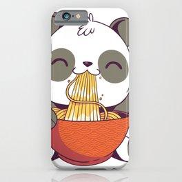 Panda eating Ramen noodles iPhone Case