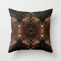 battlestar galactica Throw Pillows featuring Galactica by Robin Curtiss
