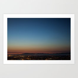 View over Lancaster, Morecambe & the Lake District Art Print
