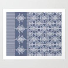 Astroid violet Art Print