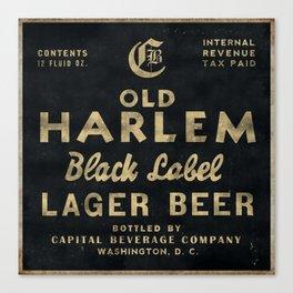 Old Harlem Lager Beer vintage advertisment poster Canvas Print