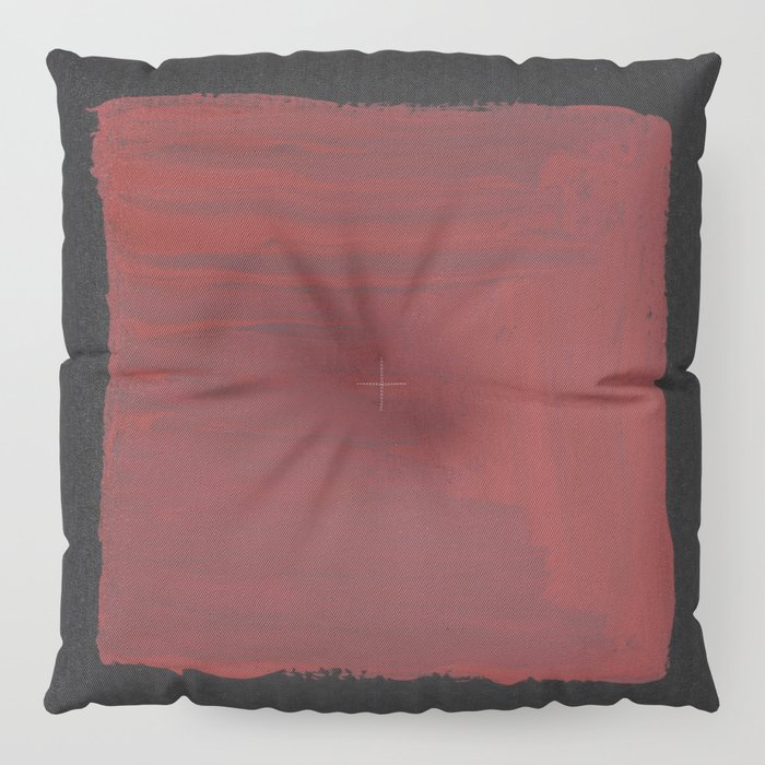 Sideways Red Square Floor Pillow by peterdraws | Society6