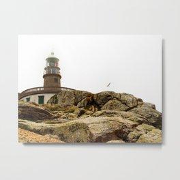 Faro de Corrubedo Metal Print