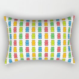 Rainbow Gummy Bears Rectangular Pillow