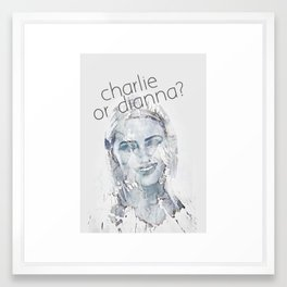 Charlie or Dianna? Framed Art Print
