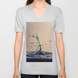 Water drops colliding Unisex V-Neck