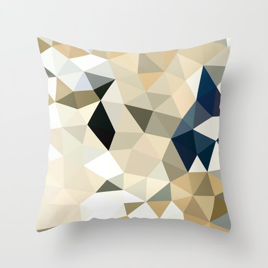 Cute Neutral Throw Pillows : Neutral Tris Throw Pillow by Beth Thompson Society6