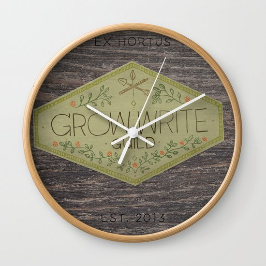 Grow Write Guild Seal Wall Clock