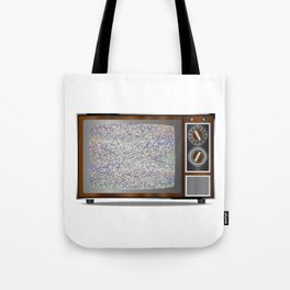 Old Television Static Tote Bag