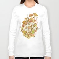 spring Long Sleeve T-shirts featuring skulls in spring by Teagan White
