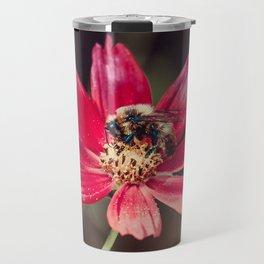 Pollen Collection. Bee Photograph Travel Mug