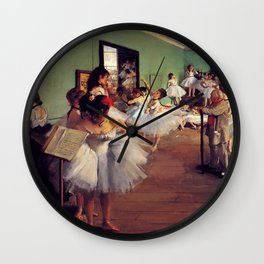 Degas The Dance Class Wall Clock
