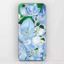 Watercolor Hydrangea Blossoms iPhone Skin