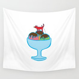 Ice-cream dog Wall Tapestry