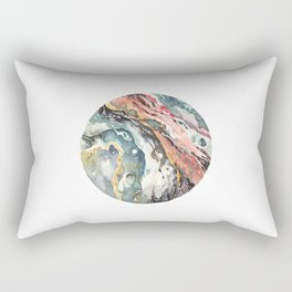 Abstract Circular Geode Watercolor Rectangular Pillow