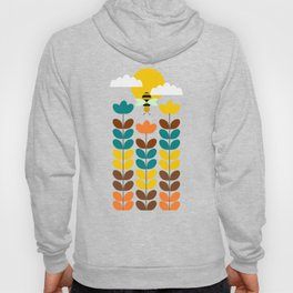 Flowers with bees Hoody