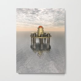 Structure At Sea Metal Print