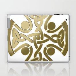 Celtic golden knot Laptop & iPad Skin