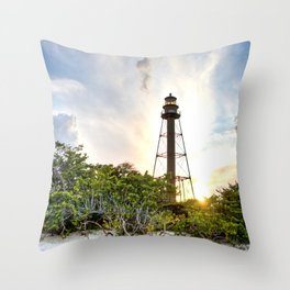 Sanibel Island Lighthouse Throw Pillow