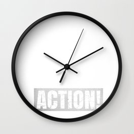 I'm Not In The Mood For Talking - Filmmaker Funny Directing graphic Wall Clock