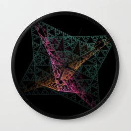 Colorful Intersection Wall Clock