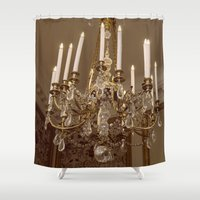 chandelier Shower Curtains featuring Chandelier by Pati Designs