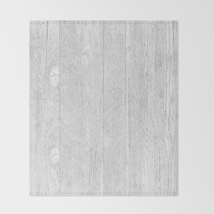 Whitewashed wood Throw Blanket