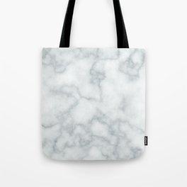 Blue Veined Marble Tote Bag