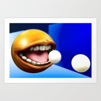 pacman Art Prints featuring PacMan by Joshua A. Biron