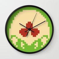 metroid Wall Clocks featuring Metroid SR388 by Pralie