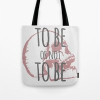 hamlet Tote Bags featuring Hamlet by Typo Negative