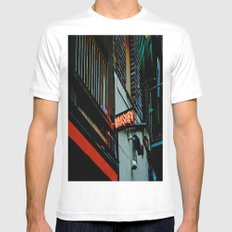 Back Alley Whiskey Mens Fitted Tee MEDIUM White
