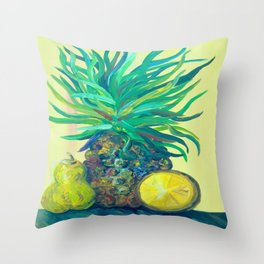 Pear and Pineapple Throw Pillow