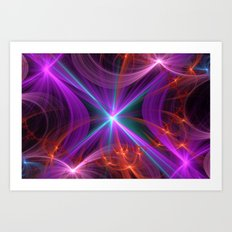 Fractal Design Happy New Year Art Print