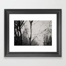 the silence ... Framed Art Print