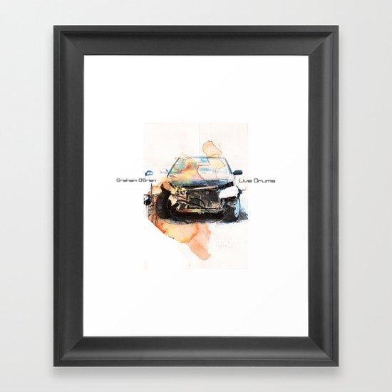 """""""Graham O'Brien, Live Drums"""" Framed Art Print"""