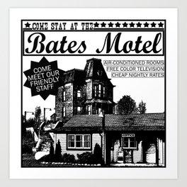 Bates Motel Advertisement - Black Type Art Print