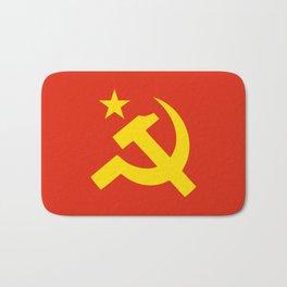 Communist Hammer & Sickle & Star Bath Mat